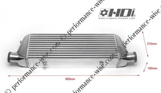 HYBRID DEVELOPMENT INTERNATIONAL (HDI) - X01-R FRONT MOUNT INTERCOOLER (580x210x100mm)